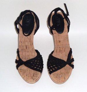 Black Crochet Open-Toes Sandals by Ann Taylor Loft: Size ~ 7M