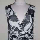 TRIBAL Black and White Floral Print Dress Size 10