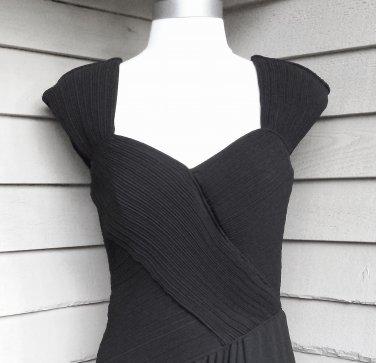 Leslie Fay Vintage Faux Wrap Draped Dress Size 6