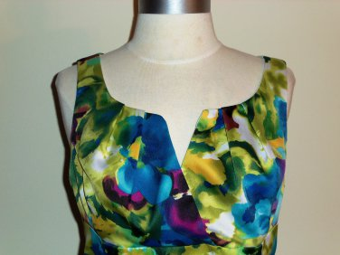 Ronni Nicole Watercolor Floral Print Dress Size 12