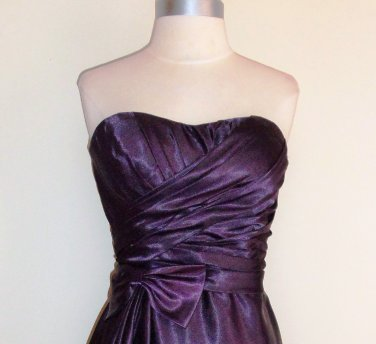 Bill Levkoff Strapless Eggplant Sample Dress Size 10