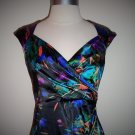 London Style Nights Black Multi Color Cocktail Dress Size S (4)