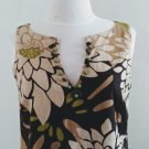 Vintage Floral Motif Shift Dress by R&K Originals Size 6