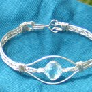 Genuine Blue Topaz Hand Made Bracelet