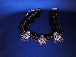 Sterling Silver, Amethyst and Black Onyx necklace