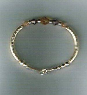 Hand Made 14K Gold filled and Swarovski Crystals Bracelet
