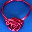 Adorable Handmade Rose Rings, Red