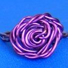 Adorable Handmade Rose Rings, Purple