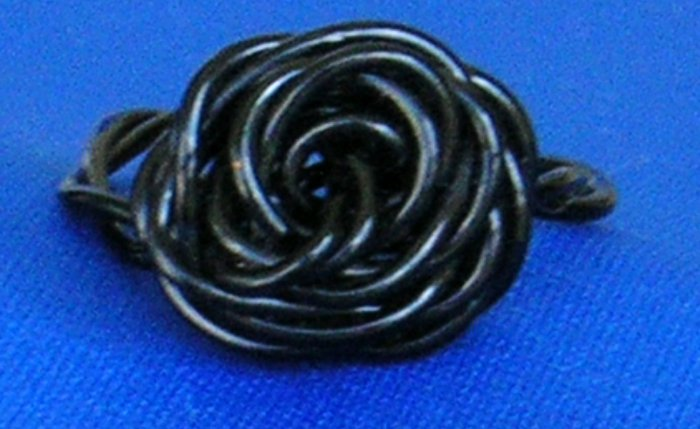 Adorable Handmade Rose Rings, Black