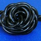 Adorable Handmade Rose Rings, Black