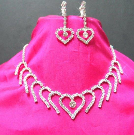 free shipping bridal wedding RHINESTONE earrings NECKLACE SET NB621