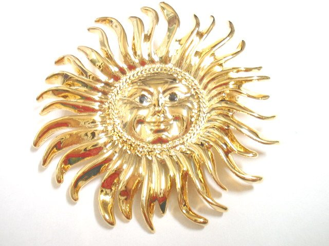 free shipping~ Golden Plated Sunshine BROOCH P41