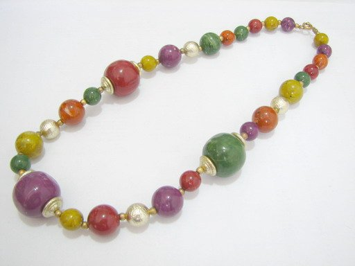 free shipping ~ NB1013 EXOTIC JEWELRY LUCITE MUTICOLOR NECKLACE 18 in.