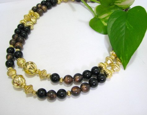 free shipping ~ NB1025 GORGEOUS JEWELRY 2 ROW BEADS NECKLACE 20 INCHES