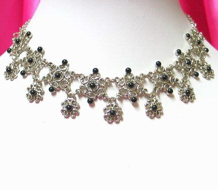 *FREE SHIPPING* NA944 ETHNIC TRIBAL FLORAL NECKLACE 37.5cm _cOOl!!_SPECIAL OFFER!!