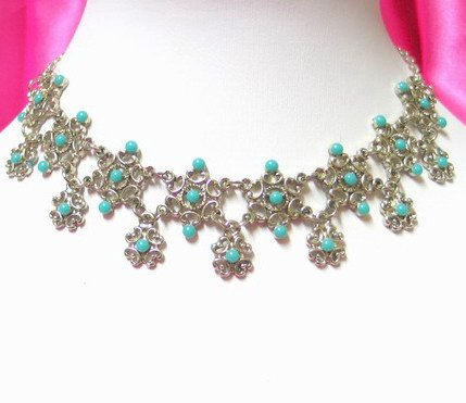 *FREE SHIPPING* NA940 ETHNIC TRIBAL FLORAL NECKLACE 37.5cm _cOOl!!_SPECIAL OFFER!!