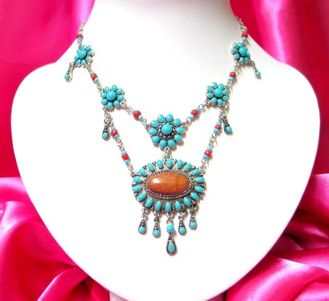 *FREE SHIPPING* NA925 ETHNIC TRIBAL DANGLE PENDANT NECKLACE 50cm _cOOl!!_SPECIAL OFFER!!