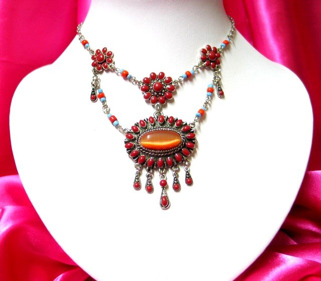 *FREE SHIPPING* NA920 ETHNIC TRIBAL DANGLE PENDANT NECKLACE 50cm _cOOl!!_SPECIAL OFFER!!