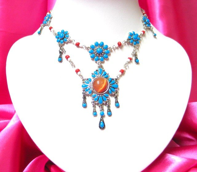 *FREE SHIPPING* NA930 ETHNIC TRIBAL DANGLE PENDANT NECKLACE 50cm   _cOOl!!_SPECIAL OFFER!!