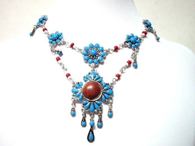 *FREE SHIPPING* NA362 ETHNIC TRIBAL DANGLE PENDANT NECKLACE 50cm   _cOOl!!_SPECIAL OFFER!!