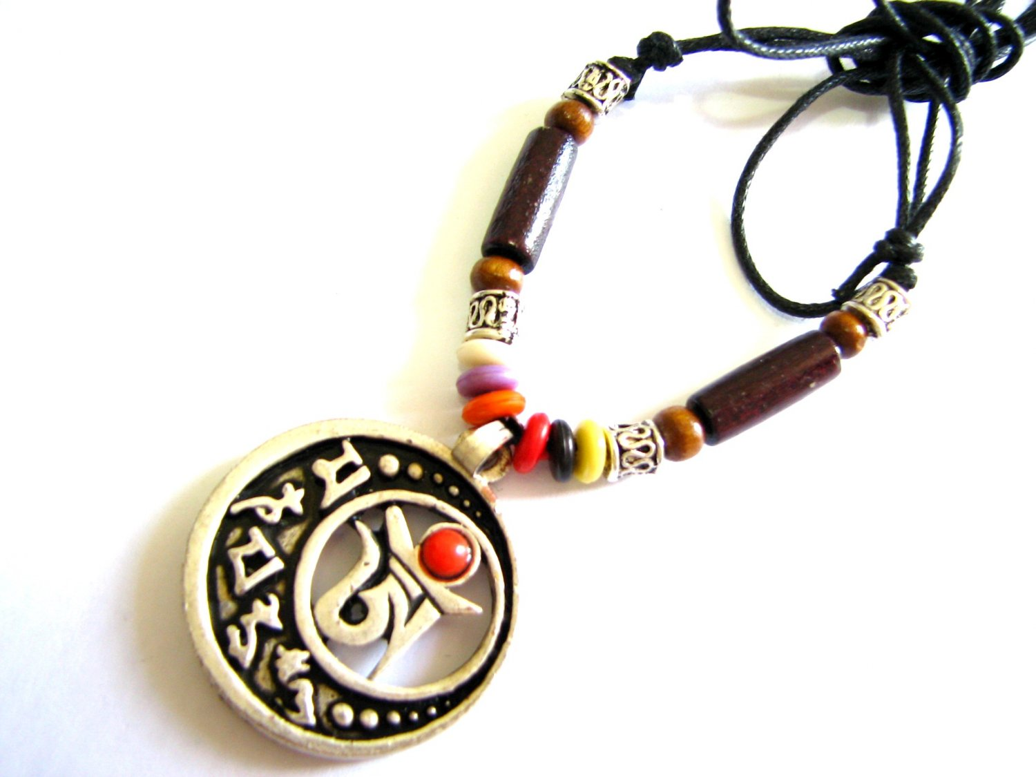 *FREE SHIPPING*NA964 ETHNIC TRIBAL JEWELRY PENDANT STRING NECKLACE 45-78cmcm