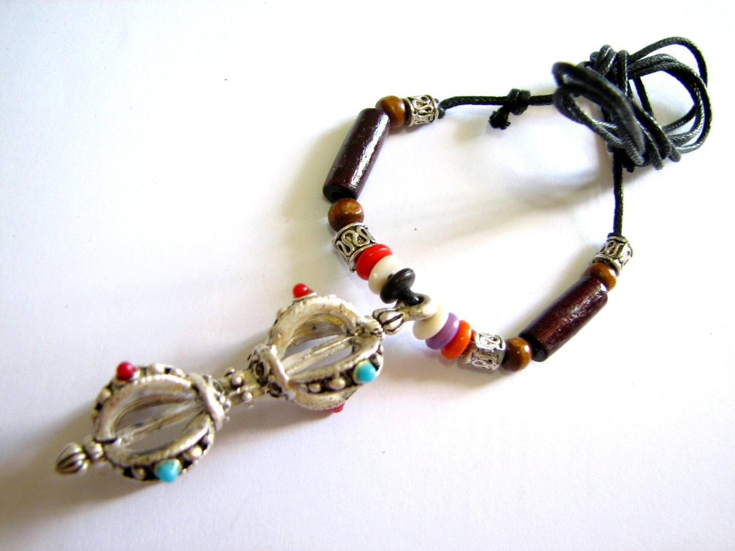 *FREE SHIPPING*NA969 ETHNIC TRIBAL PENDANT STRING NECKLACE 45-78cm