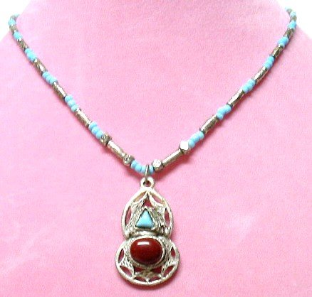 *FREE SHIPPING*NA650 ETHNIC TRIBAL JEWELRY DANGLE NECKLACE