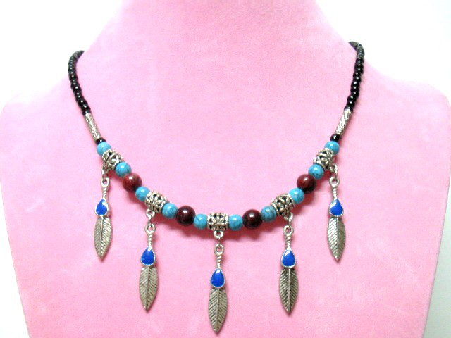 *FREE SHIPPING*NA672 ETHNIC TRIBAL JEWELRY DANGLE NECKLACE 50cm  _cOOl!!_SPECIAL OFFER!!