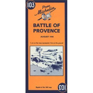 Michelin Battle of Provence Map No. 103