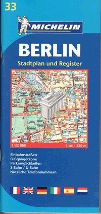 Michelin Berlin: Map with Street Plan (Michelin City Plans) (Germany)