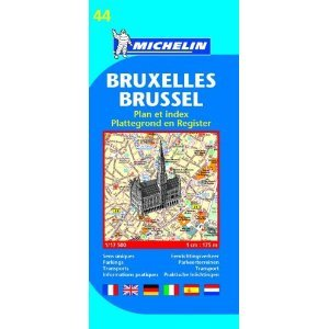 Michelin Bruxelles/ Brussels (Michelin City Plans) (French Edition) [Folded Map] (Map)