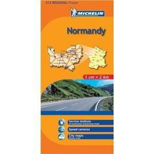 Michelin Map No. 513 Normandy  France, Le Havre, Caen and Surrounding Area, Map