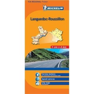 Michelin Map No. 526 Languedoc Roussillon (France) Scale 1:200,000