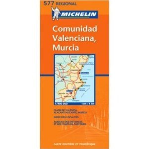 Michelin Map No. 577 Comunidad Valenciana, Murcia (Southeast Spain) (Spanish Edition) (Map)