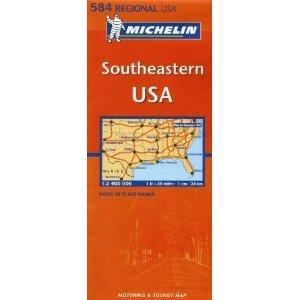 Michelin Map USA Southeastern 584