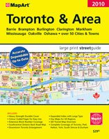 Deluxe Toronto and Area MAP Guide 2010 LARGE PRINT