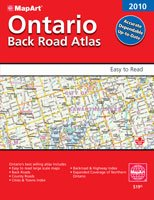 MapArt Ontario Back Roads Atlas