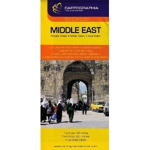 Middle East Map by Cartographia