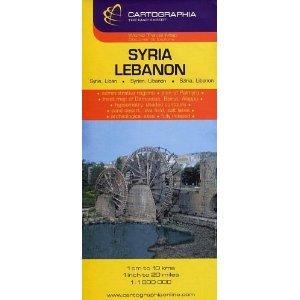 Syria/Lebanon Map by Cartographia