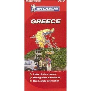 Michelin Map No. 737 Greece, Scale 1:700,000