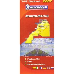 Michelin Morocco Map No. 742 2007
