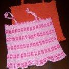 2  Summer Tops Pink & Orange - both size 8
