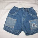 Infant shorts  size 18 mos. $1.25 (blue jean shorts w/pic of a dog K4)