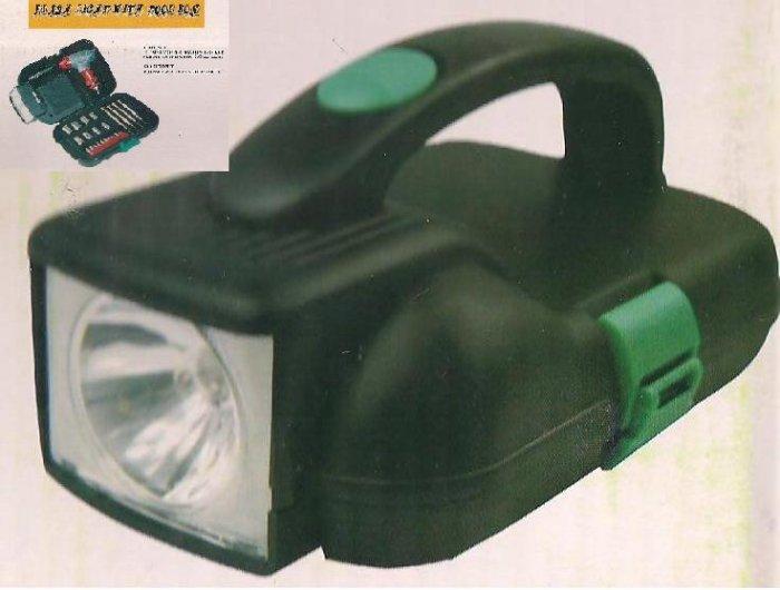 NEW CAR CAMPING TOOL SET SCREWDRIVER SOCKETS FLASHLIGHT