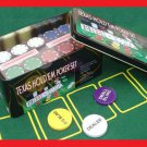 p-c 200 11.5 g CLAY POKER CHIP SET DEALER BUTTON 2 DECKS CARDS TIN BOX CASE&INSTRUCT FREE U.S. POST
