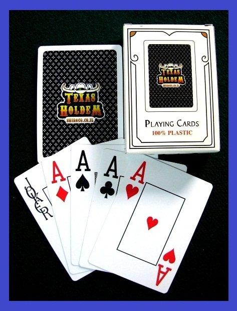 p-c TEXAS HOLD EM SET POKER JUMBO NAVY BLUE PLAYING DECK CARDS BLACKJACK SEALED NEW  FREE U.S. POST