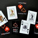 p-c POKERSTARS JUMBO INDEX 100% PLASTIC POKER PLAYING CARDS 1 DECK HOLDERS BRIDGE FREE U.S. POST