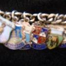 Antique & Vintage Sterling Sheilds Charm Bracelet