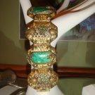 Antique Art Deco Enamel & Green Glass Dragon Motif Bracelet