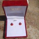 Vintage 14K Gold Lady Bug Pierced earrings